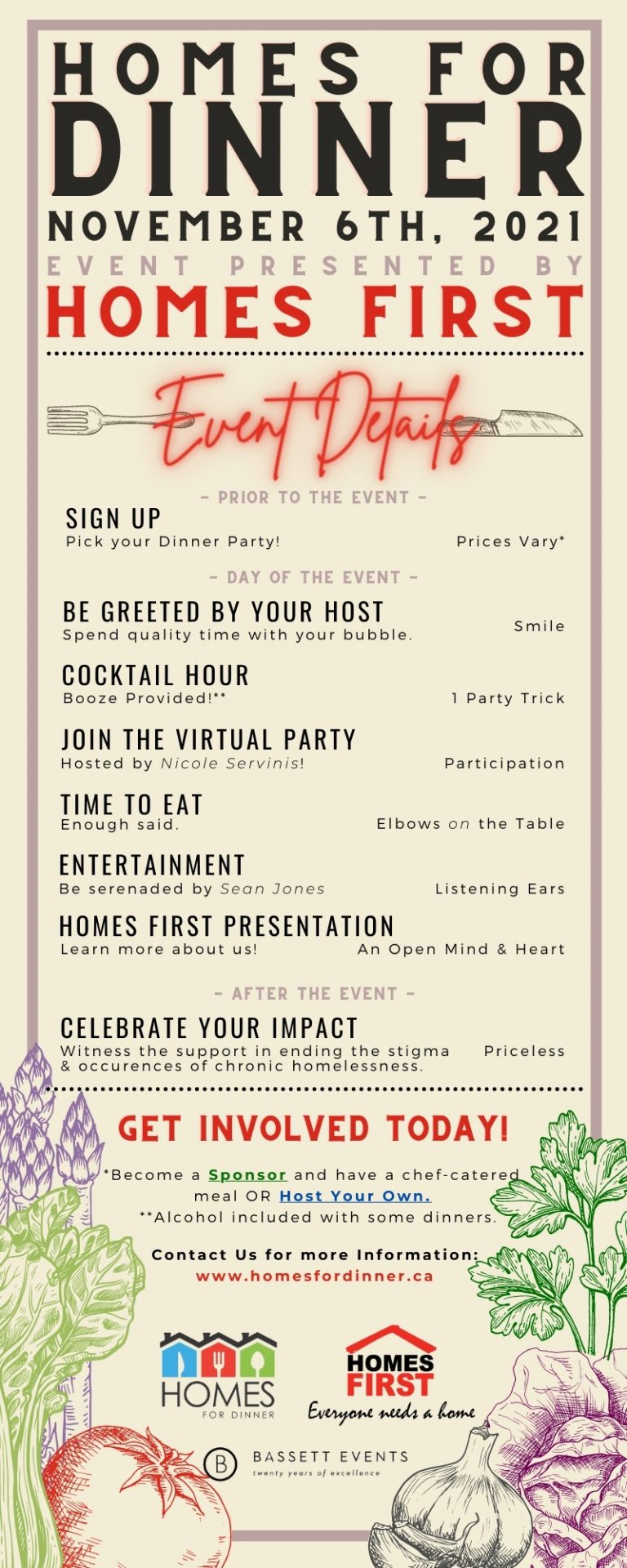 Homes for Dinner Event Details Infographic