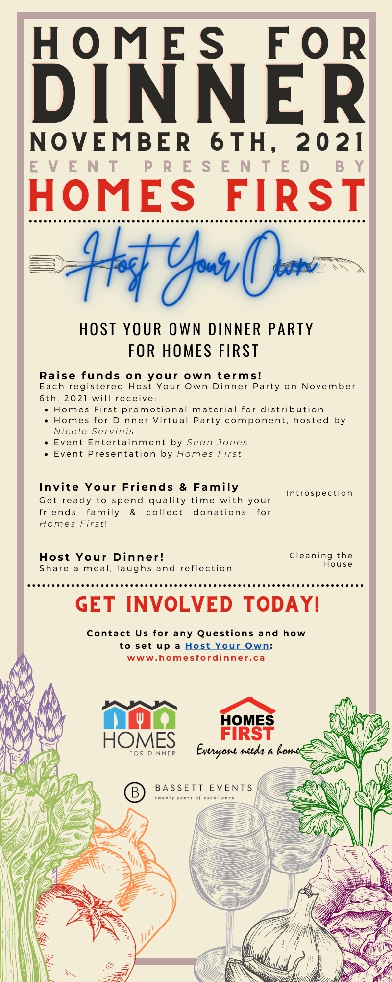 Homes for Dinner Host Your Own Infographic